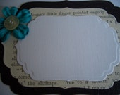 Set of 6 vintage style journaling label tags