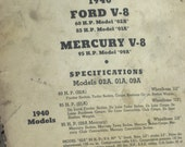 Motor and Axle Parts Service, Inc. Technical Review / Ford- Mercury 1940