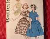 Vintage women's 1960s Butterick 9261 Dress Sewing Pattern Sz 12