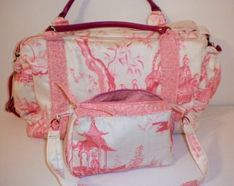 Hand Quilted  Messenger-Vintage Fabric- Crossbody Bag.Back to School  Sale .