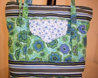 Hand Crafted  Beautiful Messenger -Crossbody - Lots of Room-Back to School Special.