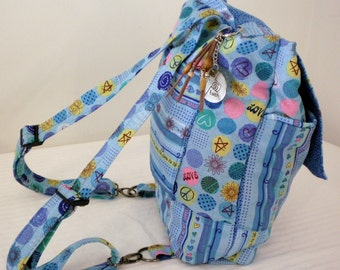 Great Hand Crafted Back Pack Love faith Bible bag -Big  New  Sale.