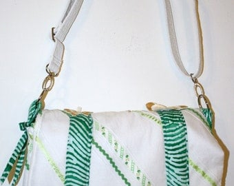 Hand Crafted By Maggie  Shabby Chic  messenger-Laptop Bag- Crossbodybag - Beauitful New  Sale.