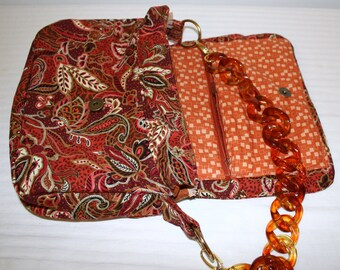 Hand Crafted by maggie Messenger Bag with Extra Shoulder Strap- Beauitful Messenger Bag Sale .