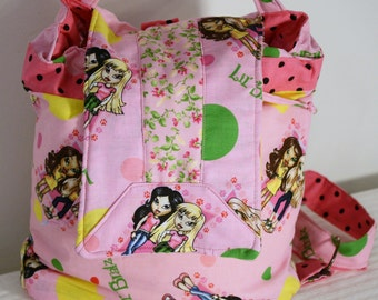 Hand Crafted By Maggie  Reversible Backpack -Messenger-Crossbody -Back to School Sale.