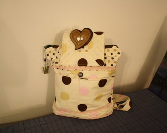 Hand crafted By Maggie Pretty  Velvet Backpack Messenger-FREE Shipping  Sale.