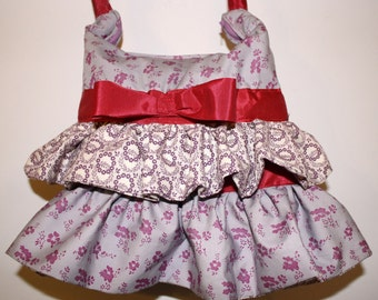 Adorable Med. size Ruffel Purse Hand bag or Crossbody bag Hand Crafted By Maggie .