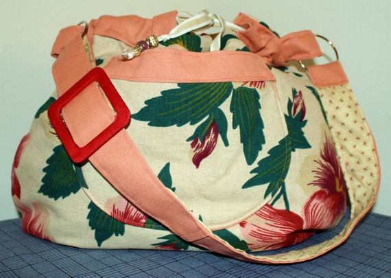Hand Crafted By Maggie  Beauitful Floral Crossbody Hobo Hippie bag.