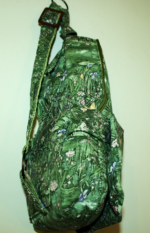 Beauitful Dragonfly Side Pack Hand Crafted with Zippers-  Sale .