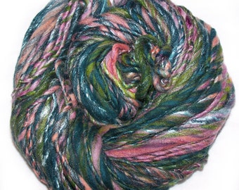 Ocean Sunrise Handspun Bulky Yarn (110 yards)