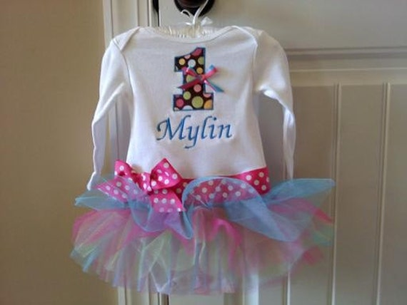 First Birthday Tutu Onesie-Other Colors to Choose From