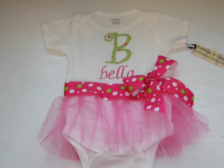 tutu onesie dresses    monogrammed baby girl gifts
