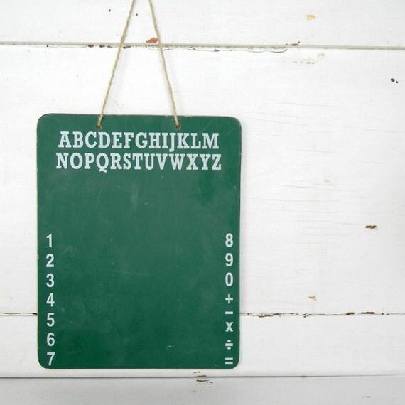 vintage ABC 123 chalkboard