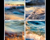 Coaster Set, Golden Water - abstract photo