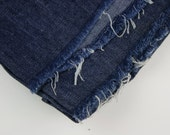 Vintage Fabric Denim Lightweight Dark Indigo RESERVED for Soomin Kim