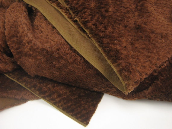 Vintage Fabric Minky Plush Fake Fur Soft Chocolate Brown