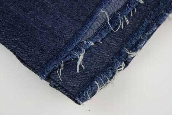 Vintage Fabric Denim Lightweight Dark Indigo RESERVED for Soomin Kim