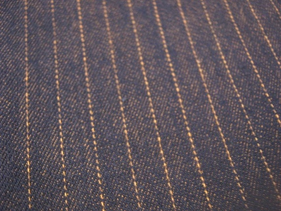 Vintage Pinstripe 1980s Denim Fabric Reserved For