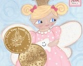 Tooth Fairy Gold Coin comes with Bratenella Card