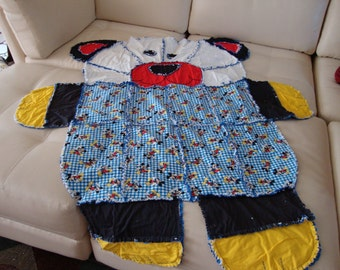 rag blanket Mickey Mouse