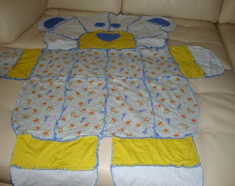 rag blanket Pooh and friends