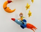 Rocket Man...A Needle Felted Mobile...Home Decor...FREE Worldwide Shipping