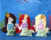 Mermaid Finger Puppet- Choose One