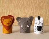 Safari Animal Finger Puppet Set