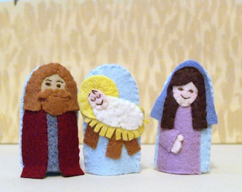 Holy Family Finger Puppet Set