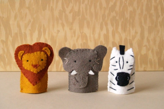 Safari Animal Finger Puppet Set
