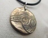 Bronze Serpent Head Pendant