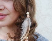 Leather and Feather Headband