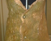 Summer Vest Nuno Felt Apricot and Fawn