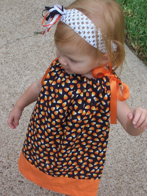 Halloween Pillowcase Dress - Candy Corn - LAST ONE