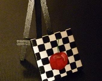 Cherry- Original Miniature Painting by Jamies Art