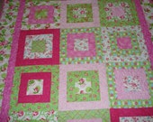 Lap or Throw Quilt  Mother's Day Rose Garden