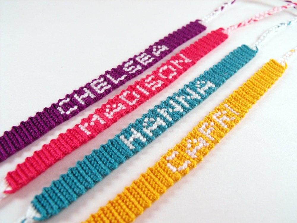 custom personalized name friendship bracelet by thenotableknot