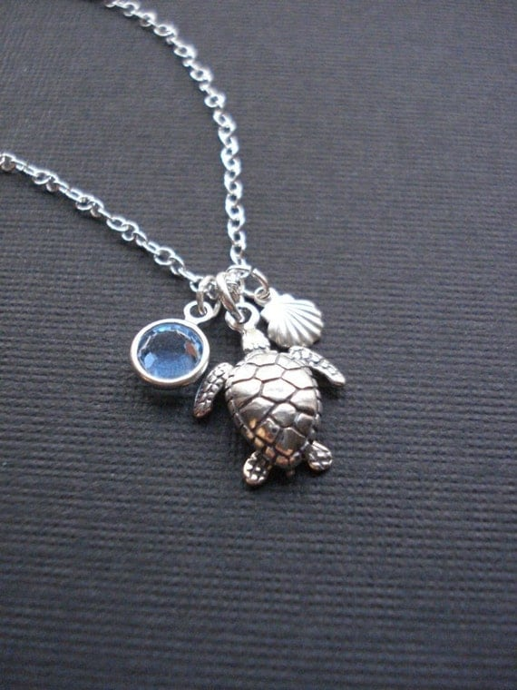 sea turtle necklace in sterling silver turtle by