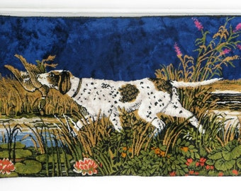 Vintage Velvet Hunting Dog Tapestry