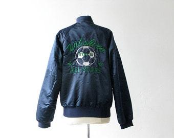 Vintage Wilshire AllStars Blue Satin Soccer Jacket