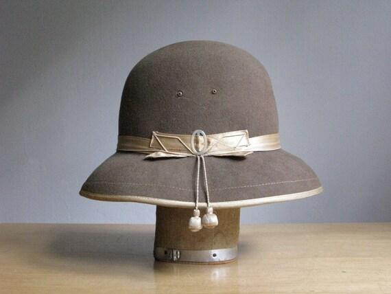 Vintage Wool Women's Bowler Hat