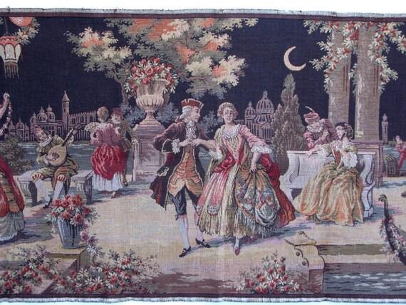 RESERVED - Vintage Belgian Royal Courtship Tapestry