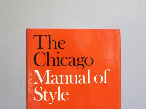 The Chicago Manual of Style Hardcover 13th Edition