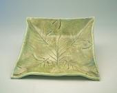 Square Leaf Impression Bowl