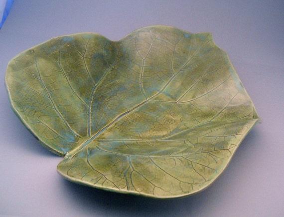 Giant Real Leaf Impressed Platter
