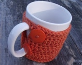 Crochet Mug Cozy - Tangerine