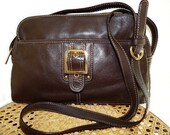 Vintage Brown Leather Bag Shoulder Aurielle Satchel  bag