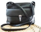 Vintage Bag Genuine Leather  Front Pocket Satchel crossbody CARLO D'SANTI