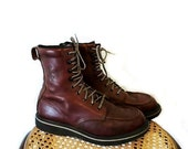 Roper Boots Brown Leather lace up  Men  10.5 SALE