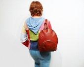 SALE Vintage Brown Leather Backpack BREE made in Germany